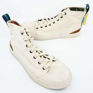 Toms Mens Travel Lite High Birth Canvas Lace Up